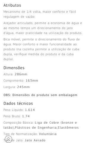 Torneira/Misturador de bancada DECA 1256-c35, na embalagem! - Foto 3