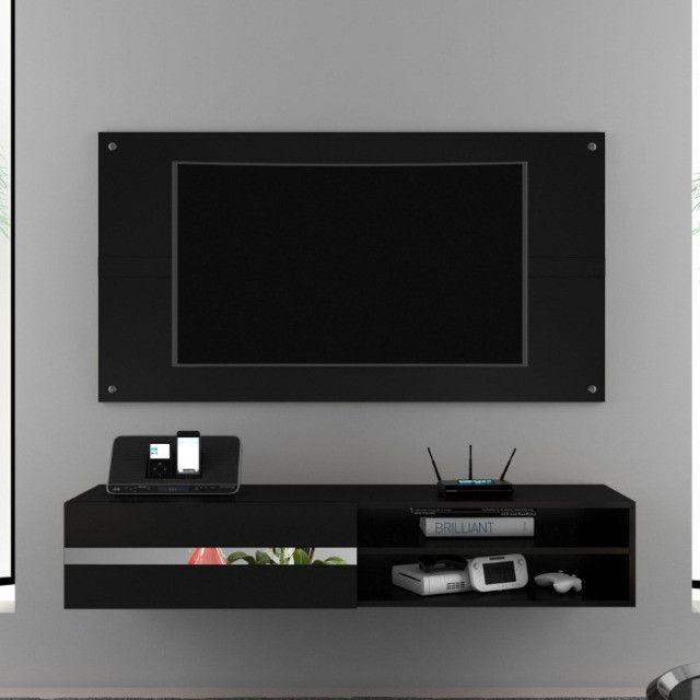 Painel Combo Sorento Glass Para TV até 50 Polegadas Borsari - Foto 2