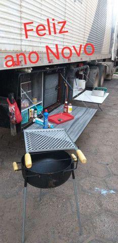 Caixa de cozinha e geladeira 85 litros de caminhão  - Foto 2