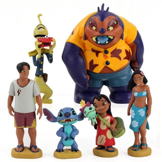 Bonecos Lilo E Stitch Coleção Boneco Disney Pronta Entrega