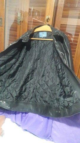 Jaqueta motoqueiro couro sintético  - Foto 3