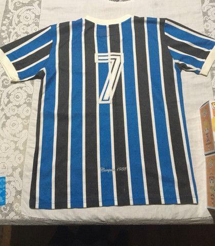 Camiseta retrô do Grêmio com ingresso  - Foto 3