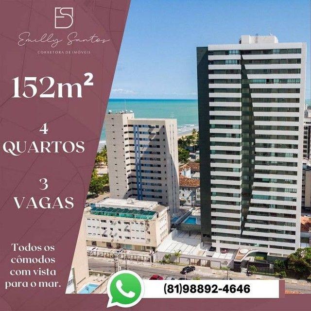 Apartamento para venda com 152 metros quadrados com 4 quartos em Pina - Recife - PE - Foto 9