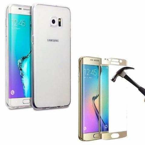 Película Protetora Galaxy S6 Edge Curva Vidro Temperado+case - Foto 5