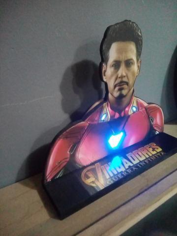 Enfeite luminaria Homem de Ferro - Foto 2