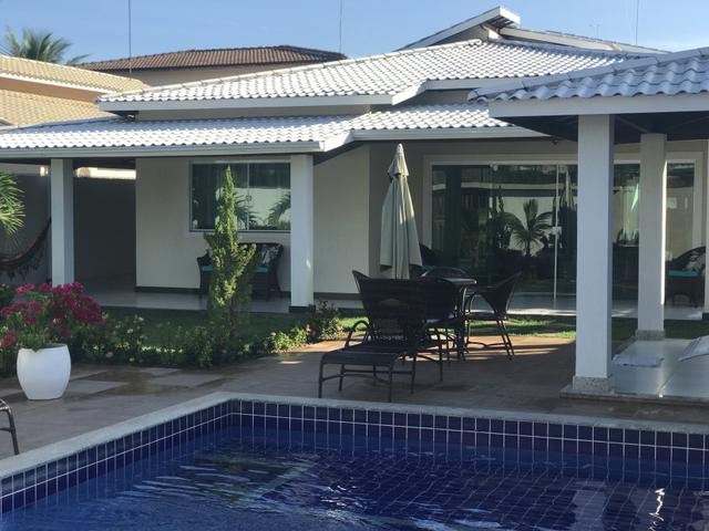 Belíssima casa em condomínio fechado barra do jacuipense $500