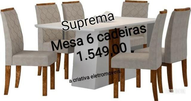 Mesa com 6 cadeiras *