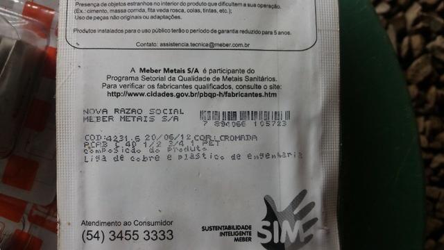 Acabamento Para Registro Meber C 40 Kit 5 Peças - Foto 2