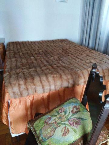 Colcha para Cama de Casal em Pele Legitima - Foto 3