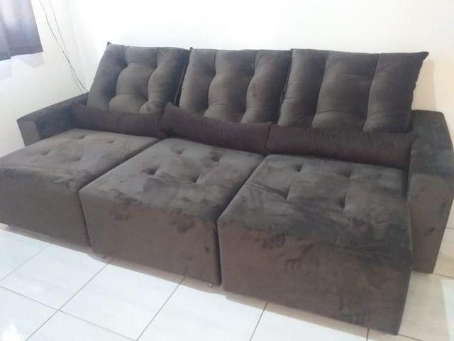 Sofá Retrátil e reclinável direto da fábrica FRETE GRÁTIS ...