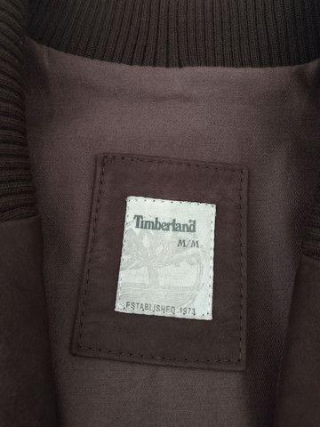 Casaco de couro tamanho médio marca Timberland - Foto 4