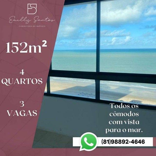 Apartamento para venda com 152 metros quadrados com 4 quartos em Pina - Recife - PE