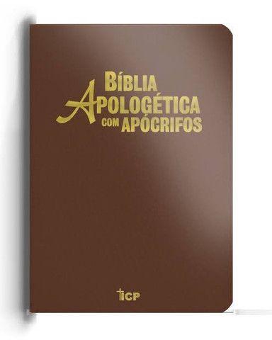 Bíblia de estudo apologética com apócrifos  - Foto 2