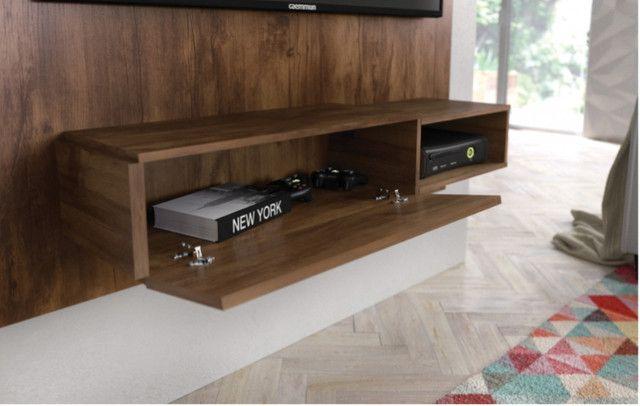 Rack suspenso da Caemmun com espaço para TV até 50 polegadas || NOVO - Foto 4