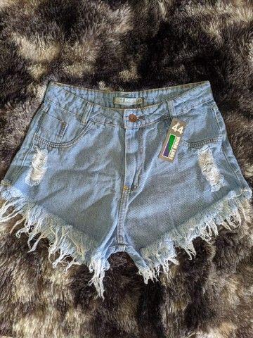 Shorts jeans cintura alta hot pants destroied rasgado