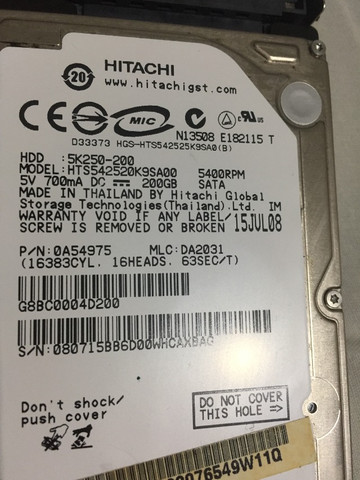 Hd 200gb Hitachi Para Notebook/netbook 5400rpm Sata