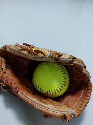 Luva de Baseball Wilson + Bola de baseball - Foto 4