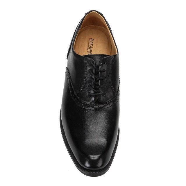 Sapato Social Rafarillo Macerata ( 38 ) Preto. Extremamente confortável - Foto 4