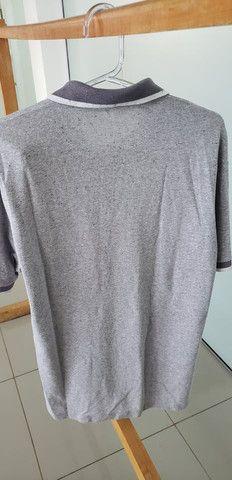 Camiseta polo six one cinza - Foto 4