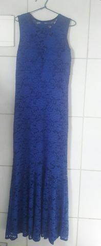 Vestido longo - Azul de Renda