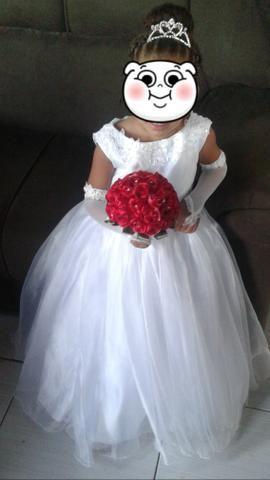 Vestido de Noivinha/daminha 4 à 6 anos