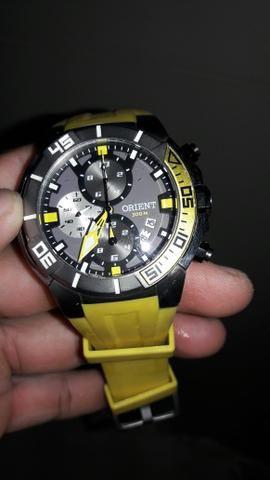 Relogio orient titanium mbttc 003 . para mergulho ate 300 mt
