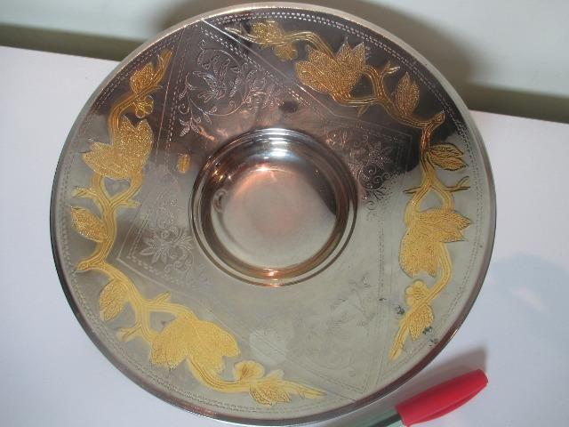 Bowl centro de mesa Deloux folheado a prata e ouro 24K - USA