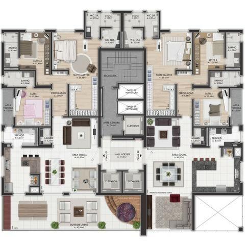 Oferta Imóveis Union! Apartamento com 167 m² no bairro Universitário, próximo ao centro! - Foto 19