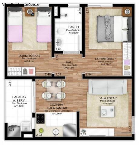 Apartamento para Venda em Novo Hamburgo, Santo Afonso, 2 dormitórios, 1 banheiro, 1 vaga - Foto 7