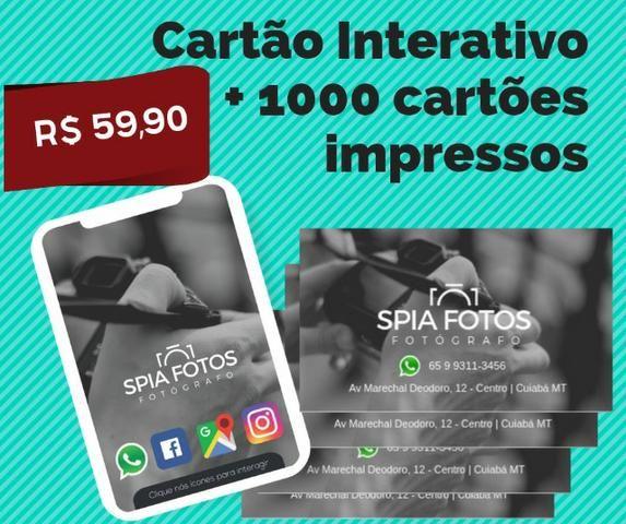Cartão Digital + 1000 cartões impressos R$ 59,90