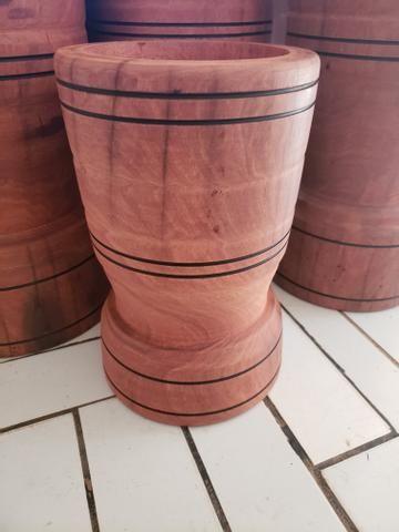 Pilão de madeira rústica novo - Foto 3