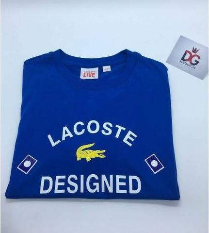 Camiseta Lacoste Live Designed in France + Caixa da Lacoste - Roupas ... 5d17adff3d
