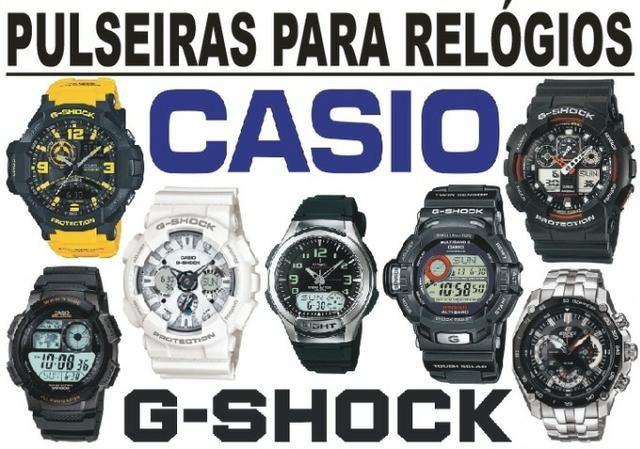 043f2696b3a Pulseiras Para Relógios Casio e G-Shock - Diversos Modelos - Consulte!  Acessórios e