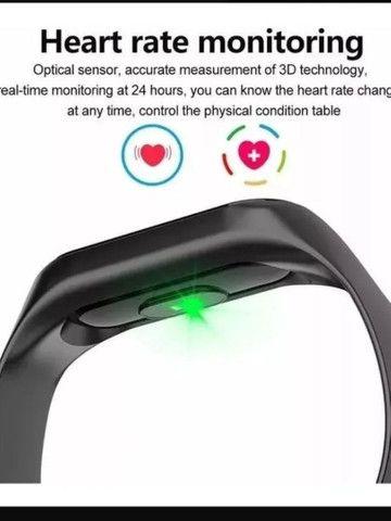 Relogio Pulseira Corrida Frequencia Monitor Cardíaco M2 - Foto 2