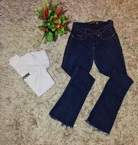Calça flare jeans - Foto 3
