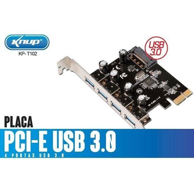Placa PCI-E com 4 portas Usb 3.0