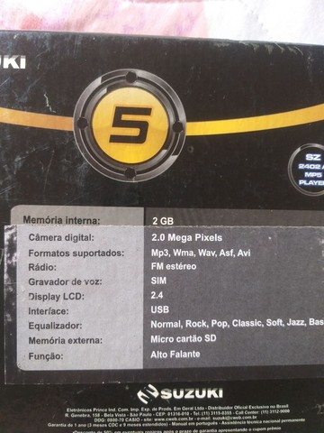MP5 Suzuki na caixa Novinho - Foto 6