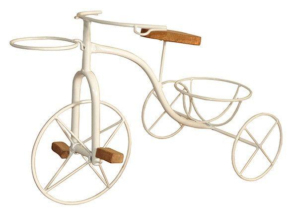 Bicicleta Artesanal Porta Vaso Em Ferro e Madeira - Foto 4