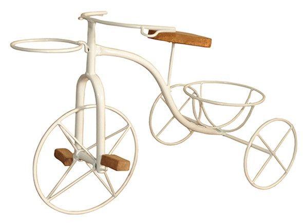 Bicicleta Artesanal Porta Vaso Em Ferro e Madeira - Foto 6