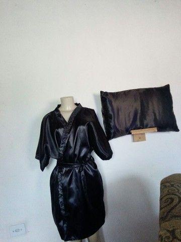 Conjunto de robe e Touca e fronha - Foto 2