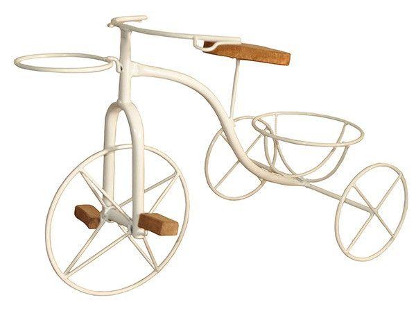 Bicicleta Artesanal Porta Vaso Em Ferro e Madeira - Foto 3