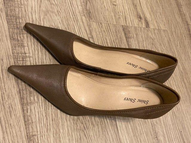 Scarpin marrom claro tamanho 38 - Foto 3