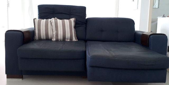 Sofá 2 lugares com chaises retráteis - Foto 3