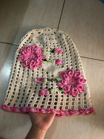 Capa de galão de água em crochê  - Foto 2