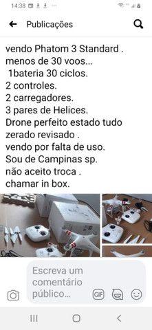 Drone Phatom 3 Standard.Com 30 Voos. Zerado
