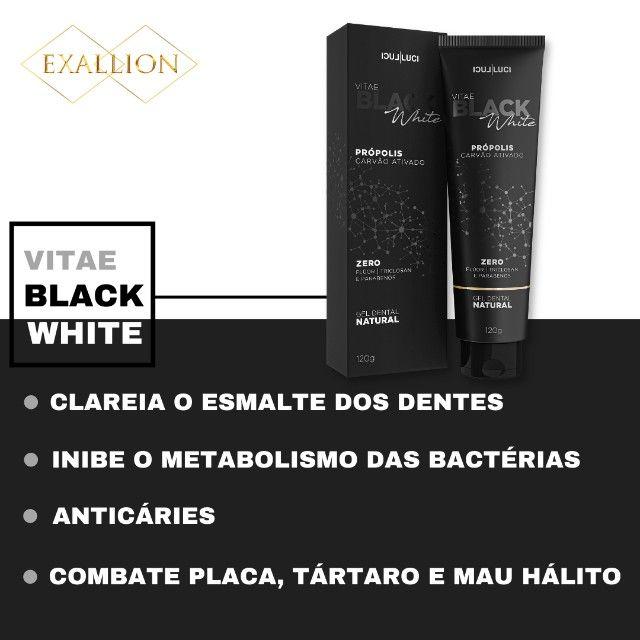 Gel Dental Clareador Com Carvão Ativado ''Vitae Black White'' - Foto 3