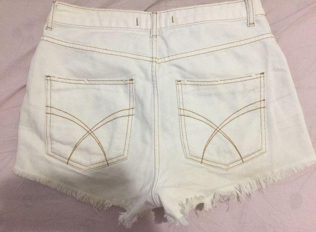 Short jeans branco - Foto 2