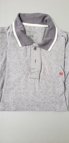Camiseta polo six one cinza - Foto 2