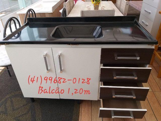 Pia pia pia pia pia pia pia 1,20m com tampo de mármorite/NOVO - Foto 4