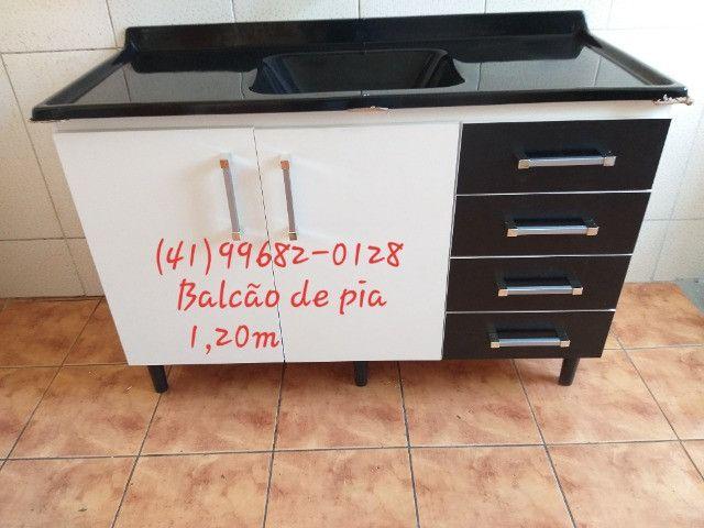 Pia pia pia pia pia pia pia 1,20m com tampo de mármorite/NOVO